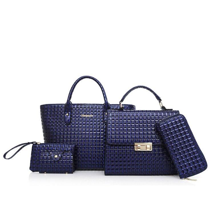 Dropwow 6 Pcs Set Women Leather Handbags 2018 Fashion Designer ... 634f44bb5f732