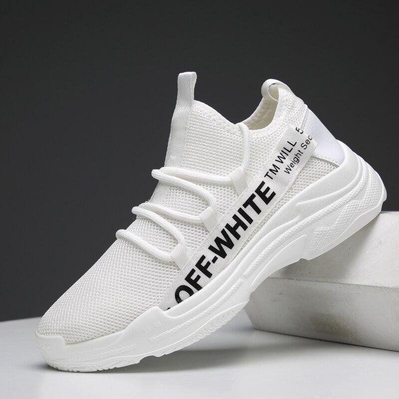 Simple Style Blanc Noir Hommes Casual Chaussures Mesh Chaussures - Chaussures pour hommes - Photo 2