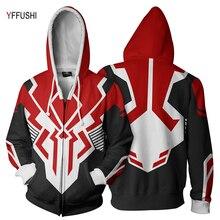 YFFUSHI New Arrival Plus Size 5XL Zipper Jacket Men Fashion Naruto Cartton 3d Print Coat Hip Hop Patchworked Hoodies