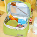 Casual Waterproof Bento Pouch Lunch Bag Container Thermal Insulated Cooler Bag Lunch Dining Travel Tote Picnic Bag
