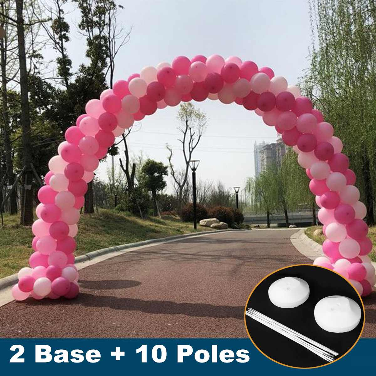 2PCS Balloon Columns Arch Pole Base Display Stand Rods Kit Set DIY Festive Party Wedding Decoration Balloons Accessories Kit