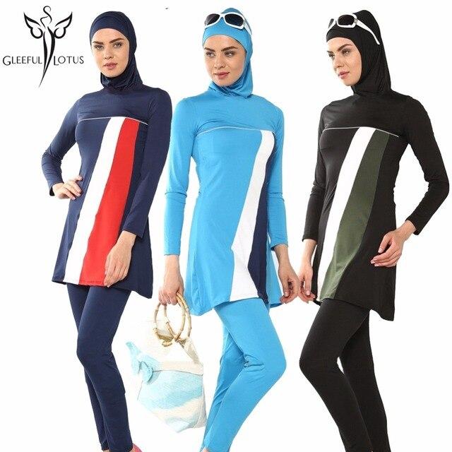 b34d45286c4 muslim swim suits hijab muslim swimwear women high waisted bathing suits  islamic beach wear muslim swimsuit turkish islamic 2017