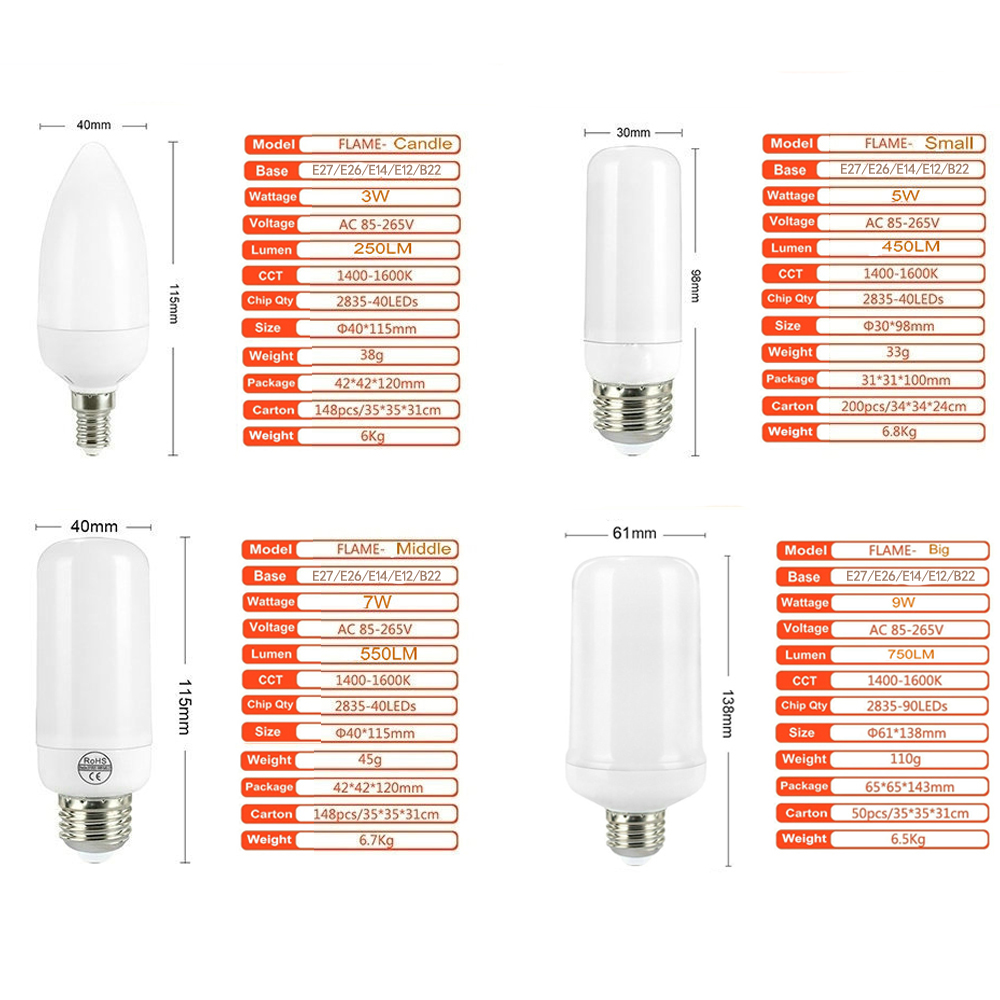LED Flame Effect Light Bulb 1