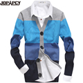 New hot autumn fashion sweater men brand patchwork slim fit mens cardigan sweater Sueter Blusa Masculina only sweater MXD0017