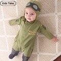 SR004 Frete grátis novo estilo macacão de bebê crianças ternos one piece-macacões projeto piloto hoodies conjuntos de roupas infantis de varejo