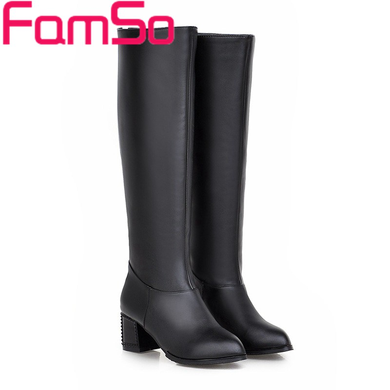 Free shipping 2016 New Sexy font b Women b font black Spring Boots High Heels Autumn