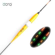 Красочный светодиодный электронный поплавок для рыбалки ночной поплавок пробкового дерева ночного видения электрические поплавок рыболовные снасти светящиеся поплавок