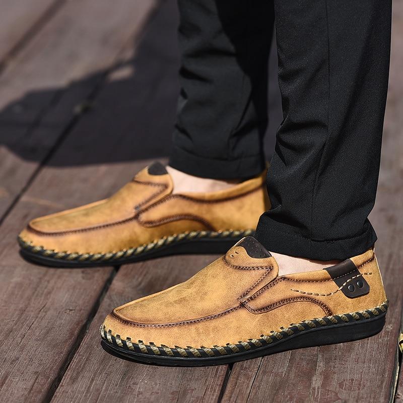 NINYOO Handmade Marke Schuhe Männer Echtes Leder Freizeitschuhe - Herrenschuhe - Foto 6