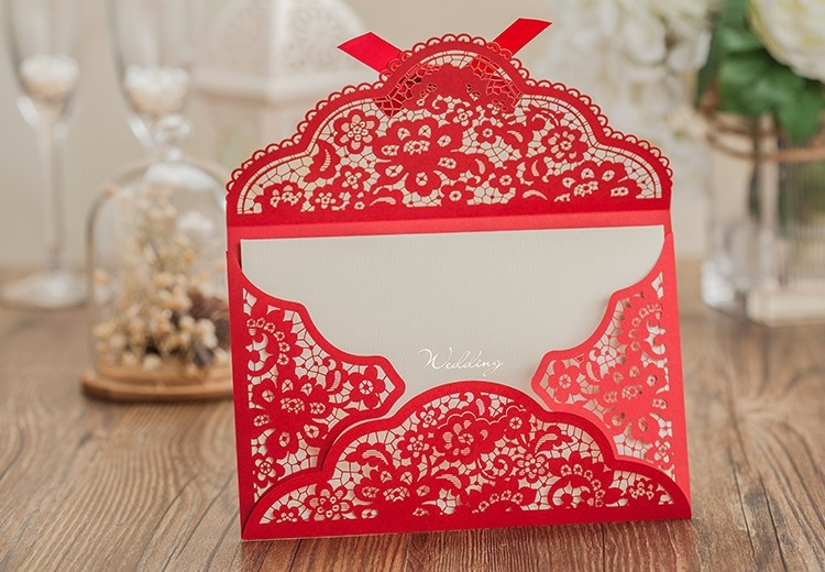 Aliexpress Buy Lace Wedding Invitations Cards free Envelope – Blank Wedding Invitation Card Stock