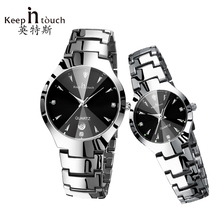 KEEP IN TOUCH Couple font b Watches b font for Lovers Luminous Luxury Quartz Men and