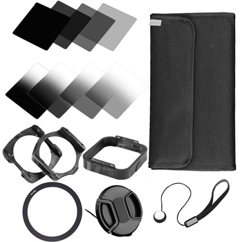 Zomei 15 en 1 completa densidad neutra graduado gradiente nd Kit de filtro cuadrado para cokin Serie P set SLR DSLR Objetivos para cámaras