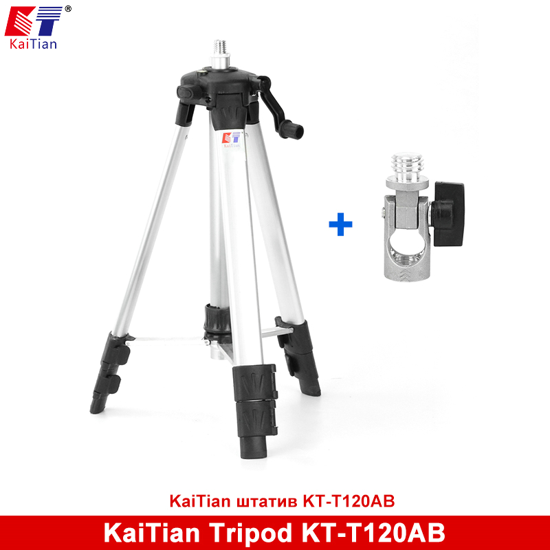 Kaitian Laser Tripod for Angle Adjustment Bracket for 5 Lines Level Extension Rod Adjustable Height Plus Additional Detachable firecore 1 4 turn 5 8 universal stainless steel tripod bracket adapter for laser level
