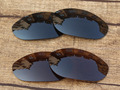 Black & Copper Brown 2 Pairs Polarized Replacement Lenses For Monster Dog Sunglasses Frame 100% UVA & UVB Protection