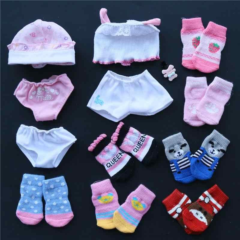 Adatto per milu vestiti per le bambole accessori sveglio lavorato a maglia calzini del pavimento urina non bagnato biancheria intima regalo per la ragazza