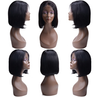 Short Lace Front Human Hair Wigs For Women OYM Brazilian Straight Remy Bob Wig Full End Lace Frontal Wig pre plucked Baby Hair