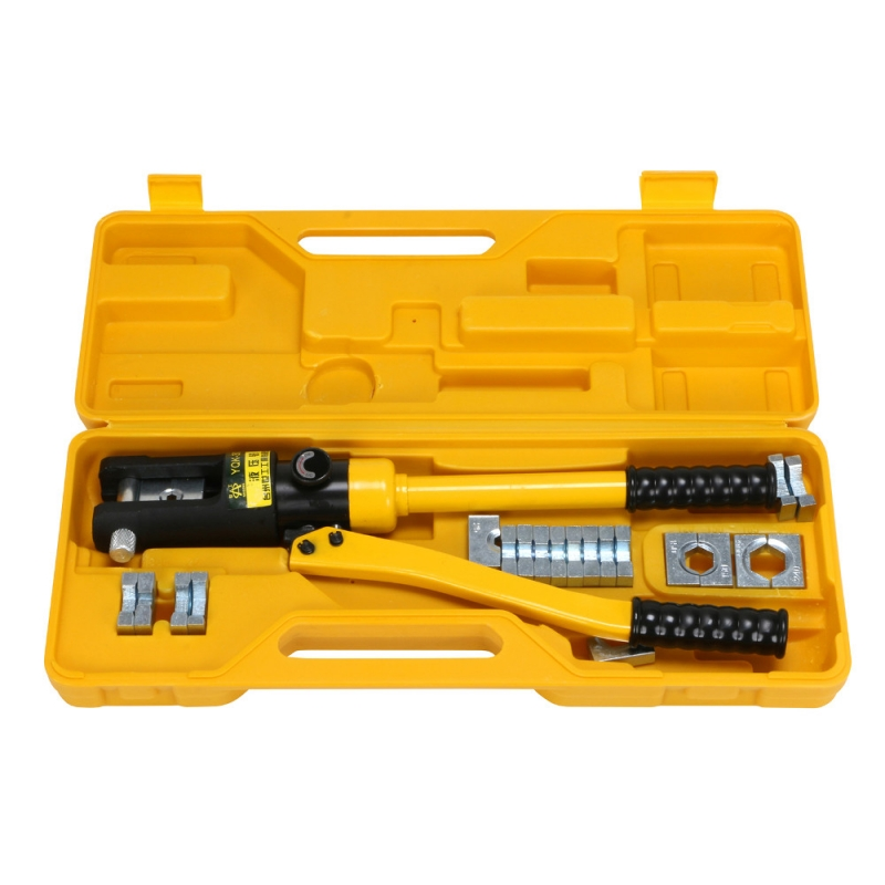 YQK-300 16 Ton Hydraulic Wire Battery Cable Lug Terminal Crimper Crimpingl 16-300mm with 11 Dies max pressure 12 ton hydraulic wire battery cable lug terminal crimper crimping tool 11 dies yqk 300 multi functional hand tool