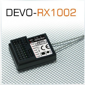 F03962 Walkera Devo RX1002 2.4G 10 channel 10ch Receiver compatible with DEVO 6 7 8 10 12 Transmitter + FS original walkera devention receiver rx1002 2 4ghz 10 channel 10ch for devo10 tx compatible with devo 7 7e 8s 12s
