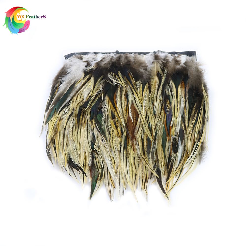 Wholesale Beautiful Pheasant Feather Trim Width 10-15CM Rooster Feather Ribbon For DIY Crafts Clothing Sewing Decoration