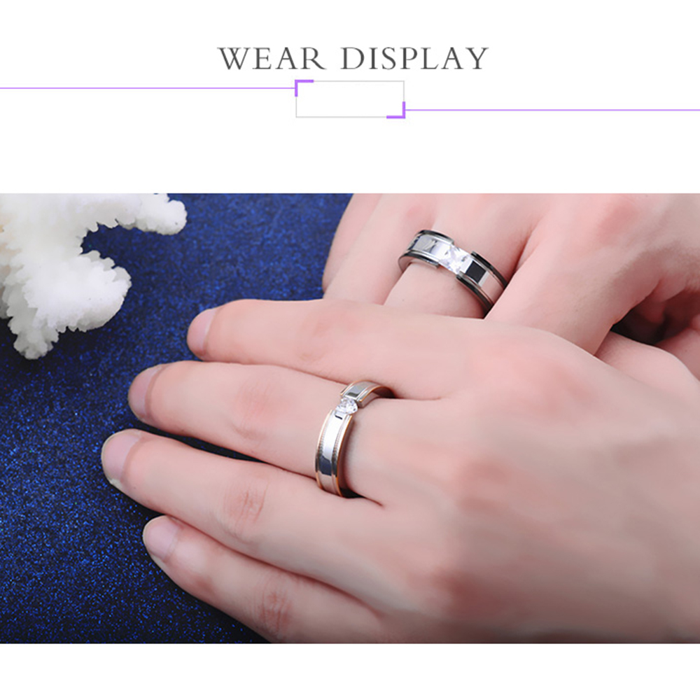 2017 Trendy My Love Wedding Ring Classic Engagement Women AAA CZ ...