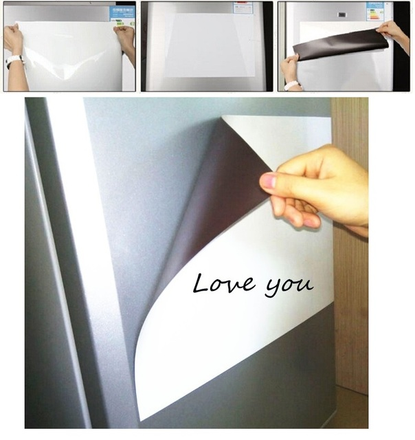 1pc A5 Size Magnetic Whiteboard Fridge Magnets Dry Wipe White Board Marker Eraser Writing Record Message Board Remind Memo Pad 2
