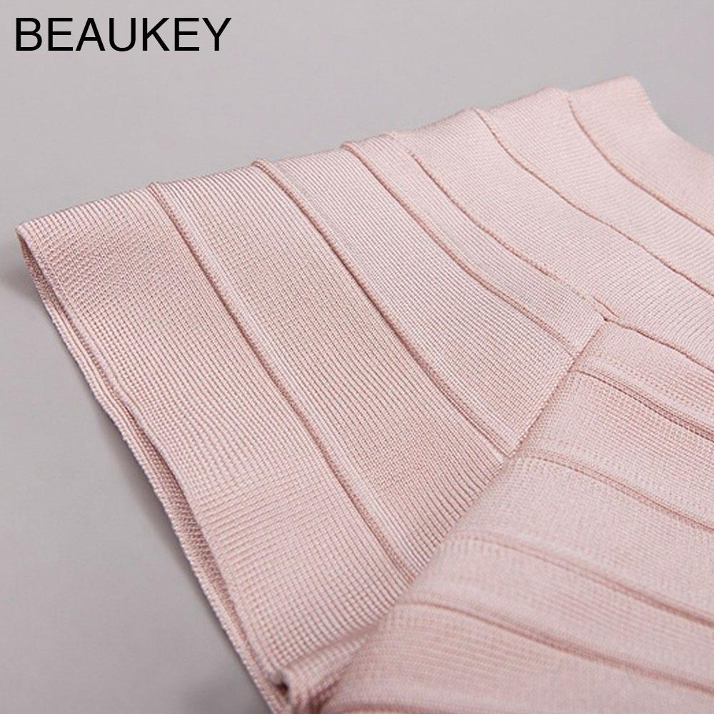 Robe Moulante De Partie Femmes Manches Drapée Slash Rose Solide Patchwork Bandage Courtes Cou À Sexy 2017 Rayonne Owqx1zapxn