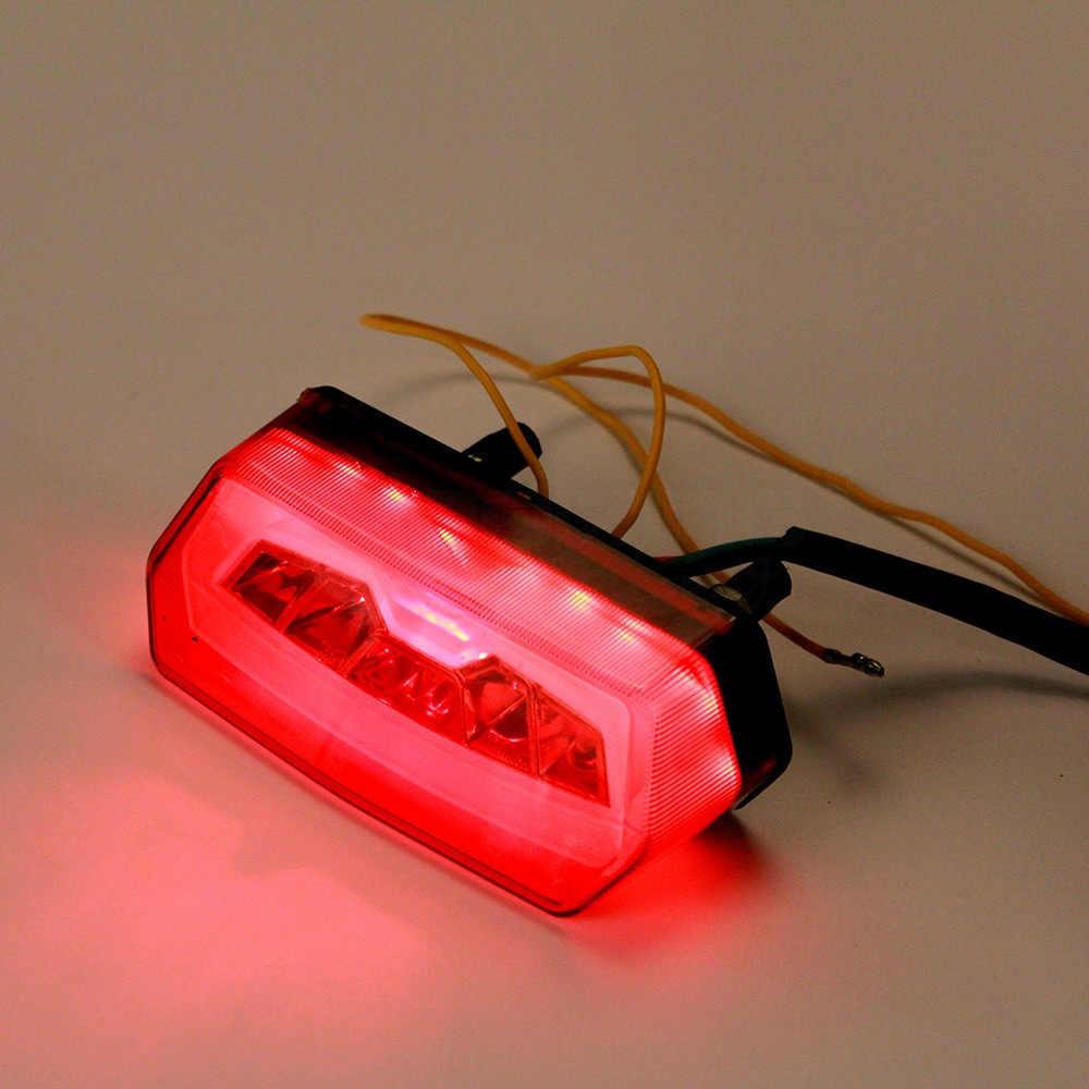 دراجة نارية بدوره إشارة الذيل ضوء الفرامل وقف تشغيل مؤشر المتكاملة إشارة LED أضواء لهوندا GROM MSX125 CBR650F CTX700