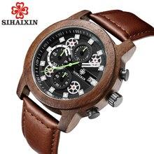 2019 Wooden Watches Men Top Brand Luxury Designer Military Waterproof Quartz Analog Wristwatch Chronograph Date Sport Male Watch