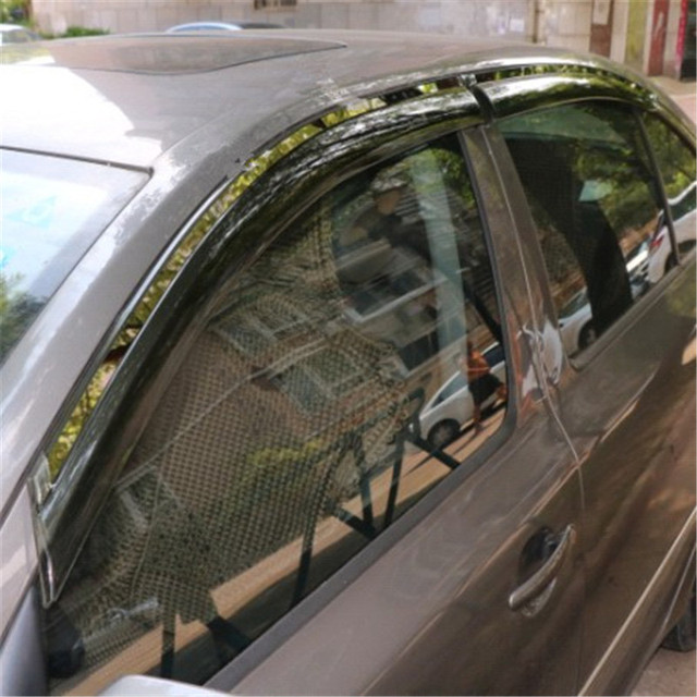 4pcs/lot Awning Shelters Vent Rain Sun Shield Window Visor For  Octavia 2008-2017 A5 a7 Car Styling Guard
