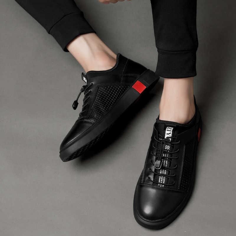 ผู้ชายหนัง oxfords รองเท้าแบรนด์หรูอิตาเลี่ยนสไตล์ชายรองเท้ารองเท้าผู้ชาย Breathable แบนรองเท้า Lace - Up ขนาดใหญ่