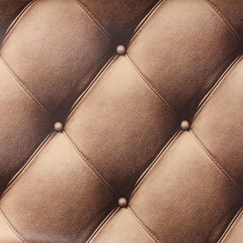 3D stéréoscopique en relief PVC étanche papier peint de luxe Imitation cuir veine papier peint pour murs 3 D pour salon moderne