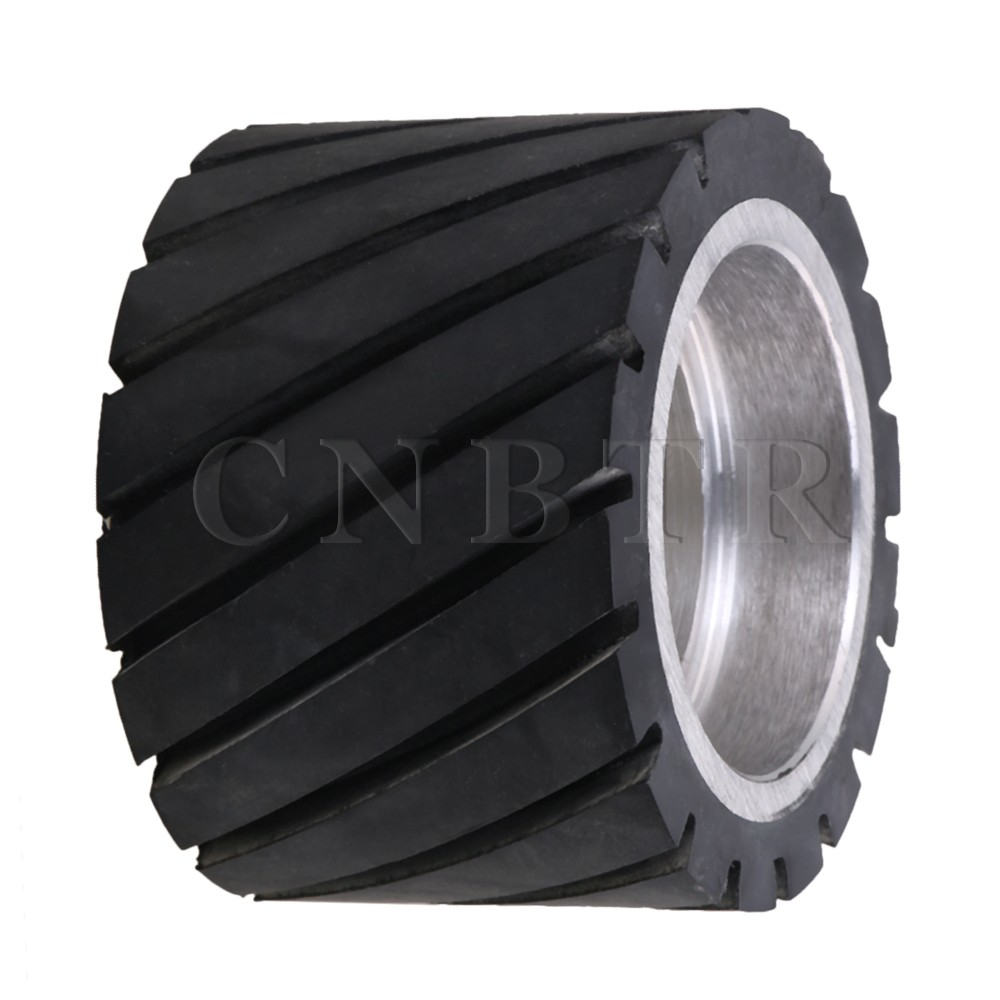 цена на CNBTR 7x5cm Tooth-surface Rubber Wheel with Aluminum Core for Belt Grinder