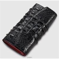 100% echt alligator huid leer vrouwen portemonnee krokodillenleer skin portefeuilles en portemonnee  luxe geld clip voor business mannen