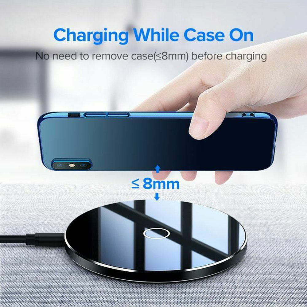 Chargeur rapide de téléphone pour iPhone X Xs XR 8 Plus QI chargeur sans fil Standard chargeur USB pour chargeur Xiao mi x 3 mi 9