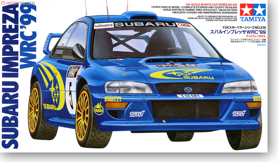 1 /24 Subaru Panther Wr C99 Rally Car ( 24218 ) autogen rally team 50%