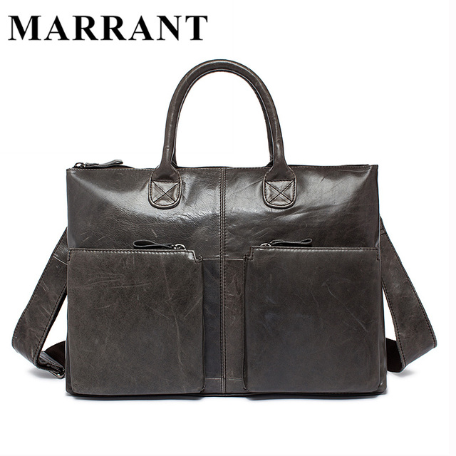 MARRANT Genuine Leather Bag Casual Handbags Cowhide Men Crossbody Bags Men's Travel Bags Tote Laptop Briefcases Men's Bag L502
