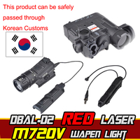 Airsoft Element M720V Hunting Flashlight IR dbal d2 PEQ Double Control Switch Tactical Laser Pointer Armes Softair Weapon Lights