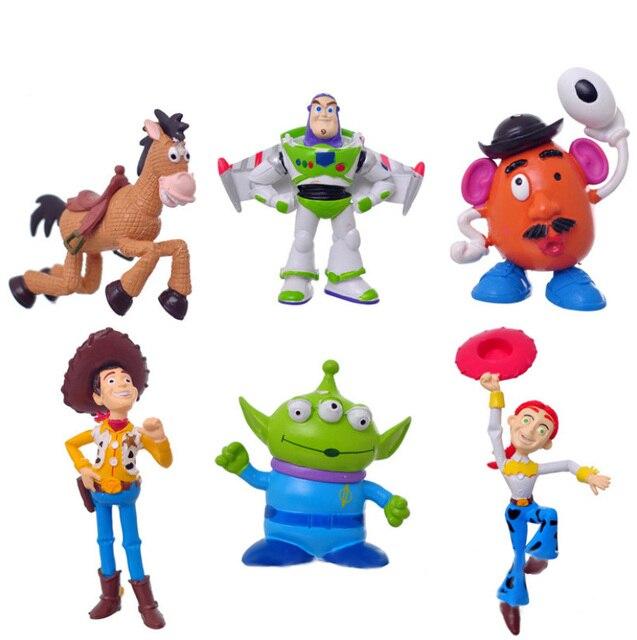 Disney Toys 6 Pcs Set Buzz Lightyear Cute Cartoon Toys Dolls Plastic Action  Figures Birthday Gift Juguetes Anime Ty869 63d117c9705