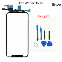 Grade AAA Touch Screen digitizer for iPhone X XS touch panel with flex cable iPhone X XS XS max LCD screen new 238x180 238 180mm cable 75mm 4wire touch screen