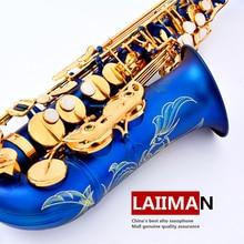Lehmann musical instrument e alto saxophone saxe tube sky blue gold key