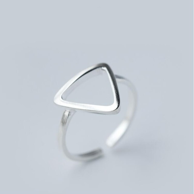 Shuangshuo Silver Plated Rings 2016 New Fashion Simple Jewelry Adjustable Geometric Triangle Rings for Women Wedding Gifts