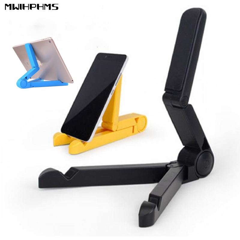 Universal Foldable Phone Holder Adjustable Tripod Stability Support for iPhone iPad Mi tablet Desk Lazy phone portable stand