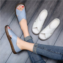 Women Sandals 2019 Summer New Casual Slippers Woman Shoes Fashion Fish Mouth Slip-on Comfortable Slip Maternity Size 35-41