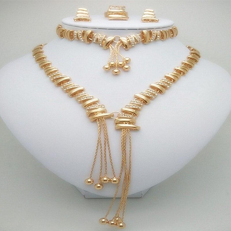 王国ミリアンペアホット女性のファッションゴールドカラーアフリカのナイジェリアウェディングジュエリーセット結婚式の女性のジュエリーセット  グループ上の ジュエリー & アクセサリー からの ブライダルジュエリーセット の中 1