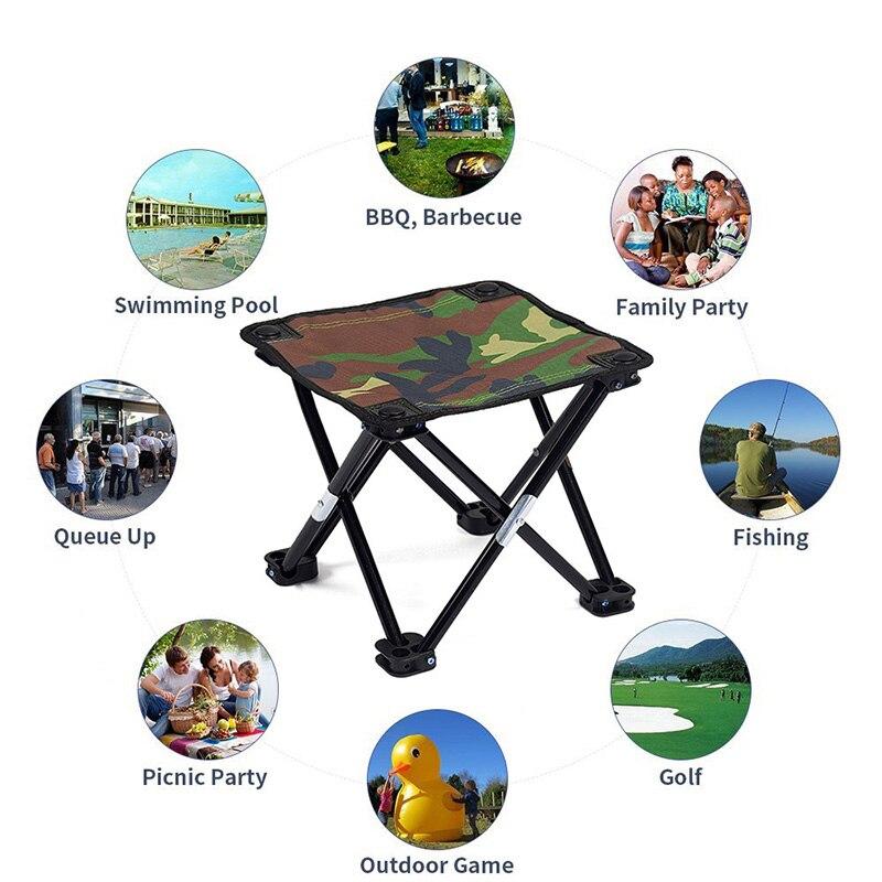 Mini Portable Folding BBQ Chair Outdoor Travel Camping Picnic Beach Stool