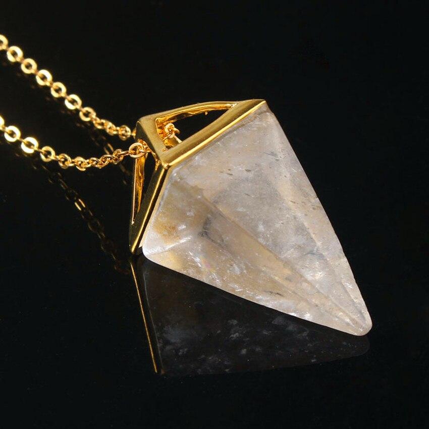 Plaqué Argent Améthyste Naturelle Cristal de Quartz épée Quartz Pendule Pendentif Cadeau
