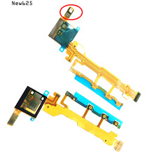 For Sony Xperia Z L36H L36i LT36i C6603 C6602 Power Volume ON OFF Button Keypad Switch Mic Flex Cable Replacement Parts
