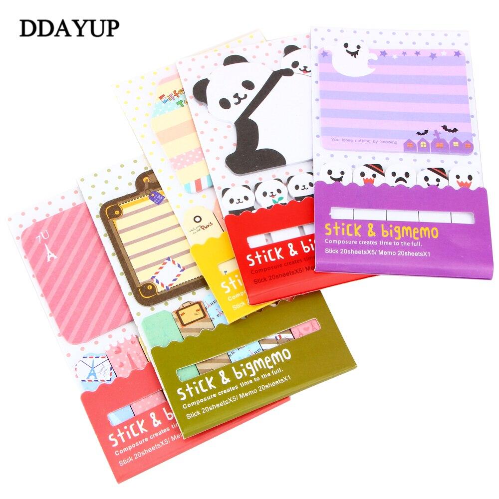 4 Teile/los Nette Panda Vogel Käfig Memo Pad Selbst-adhesive Sticky Notes Lesezeichen Geschenk Schreibwaren Schule Liefert Geeignet FüR MäNner, Frauen Und Kinder