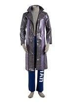 Cosplay Costume Suicide Squad Joker Halloween Costumes Men Full set Uniform Suit coat+pants