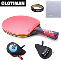 Professional Best Pingpong Rackets Good Quality Table Tennis Racket Short Long Handle Carbon Racket Holder For