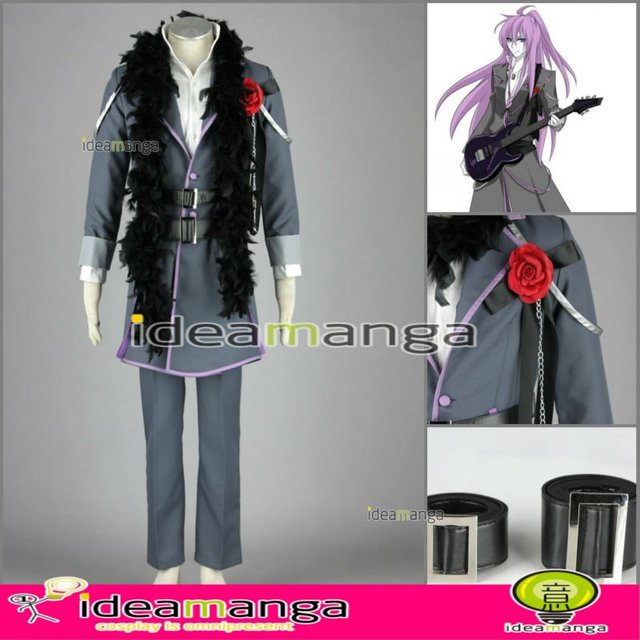 [ideamanga]Manga Amime V+ VOCALOID Kamui Gakupo/Gackpo Imitation Black man's Cosplay Costume male halloween party dress Any Size